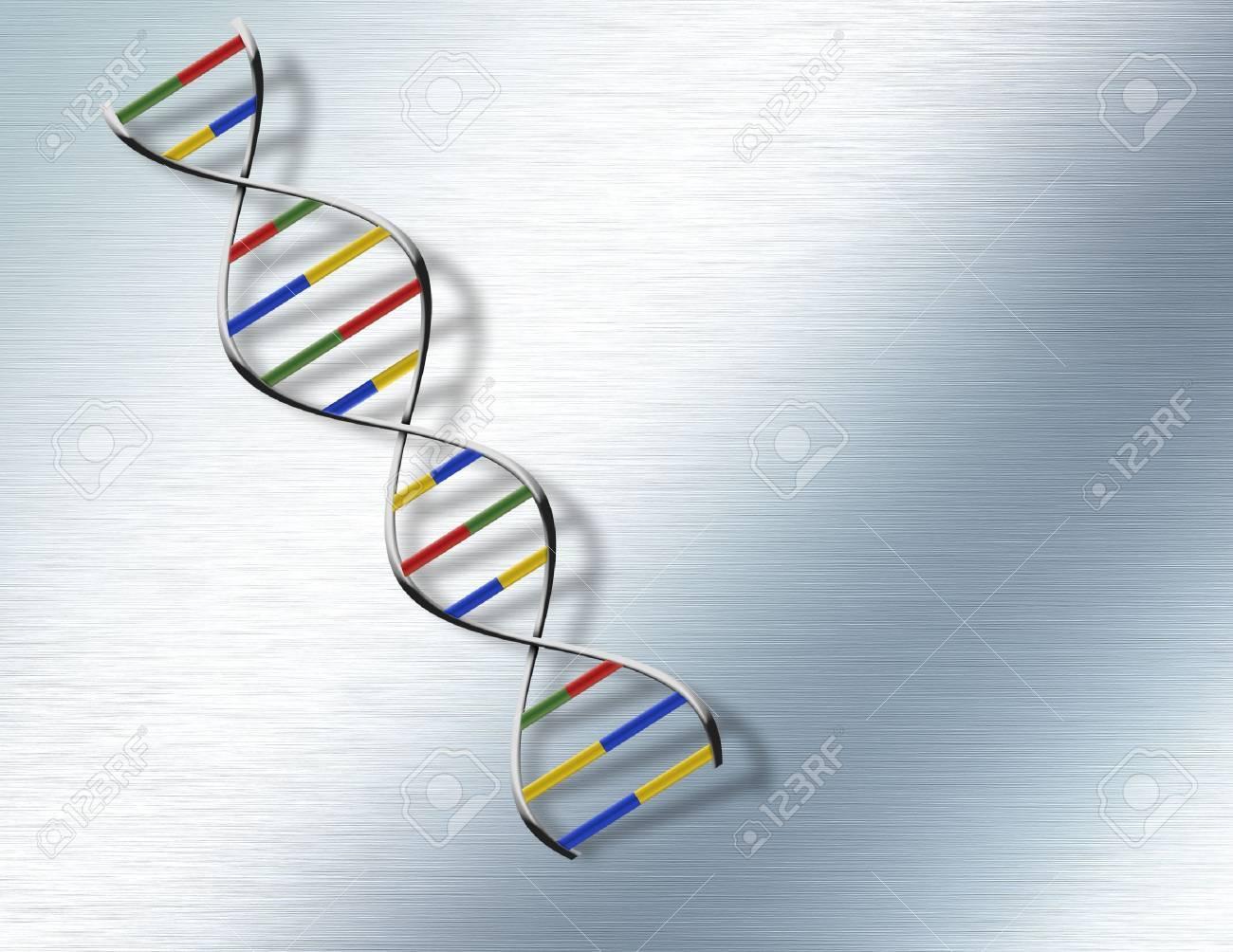 DNA on Steel Stock Photo - 7057679
