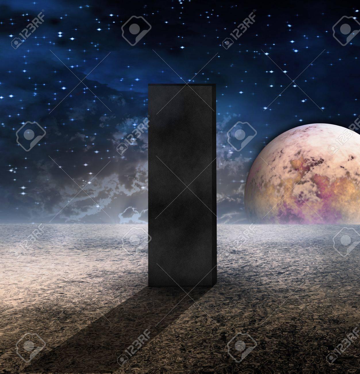 Monolith on Lifeless Planet Stock Photo - 7695523