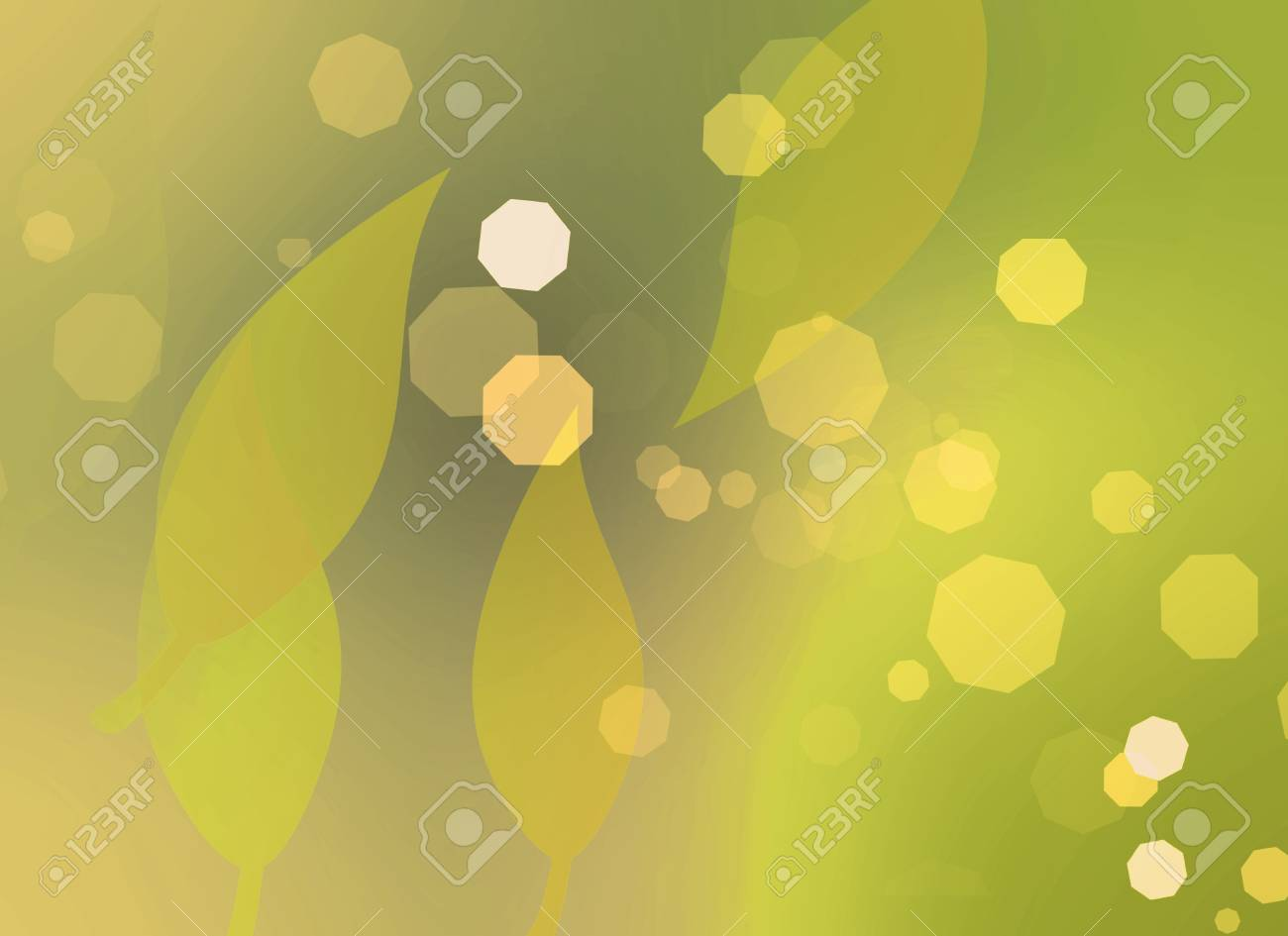 Leaves and color light Stock Photo - 7869584