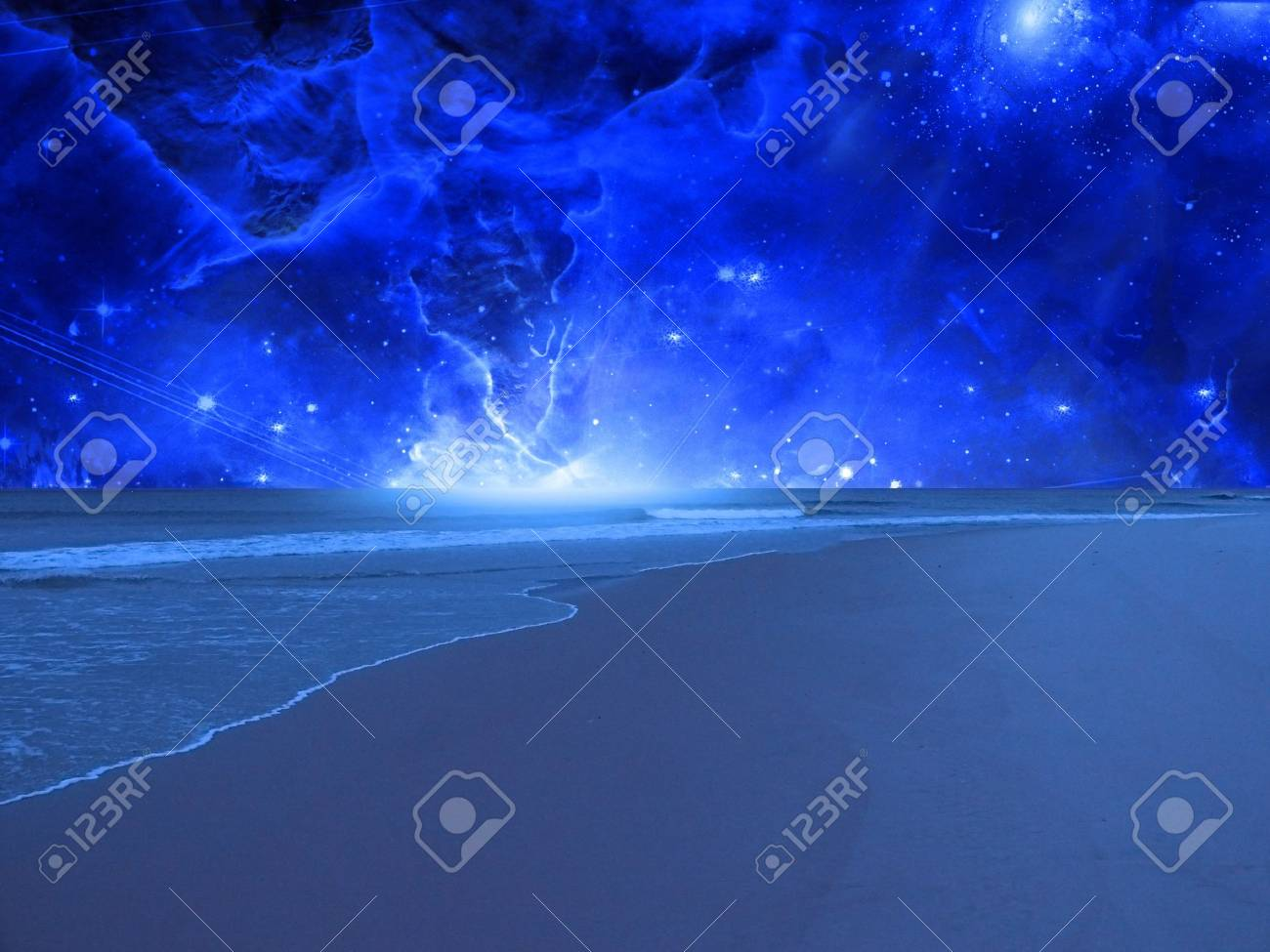 High Resolution Surreal Sea Stock Photo - 7962581