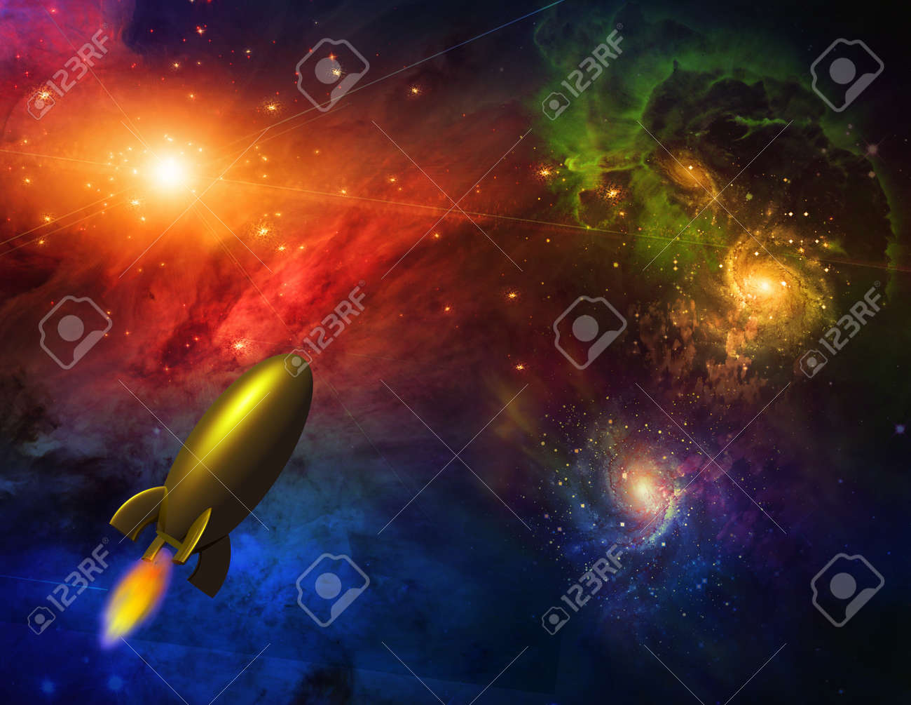 Ship in space Stock Photo - 9351735