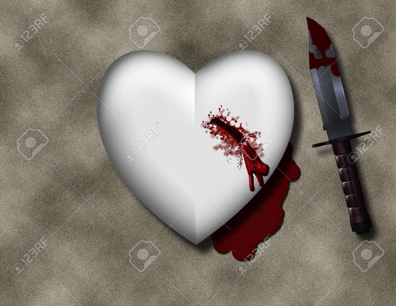 Bleeding heart with bloody knife stock photo picture and royalty bleeding heart with bloody knife stock photo 10498333 buycottarizona