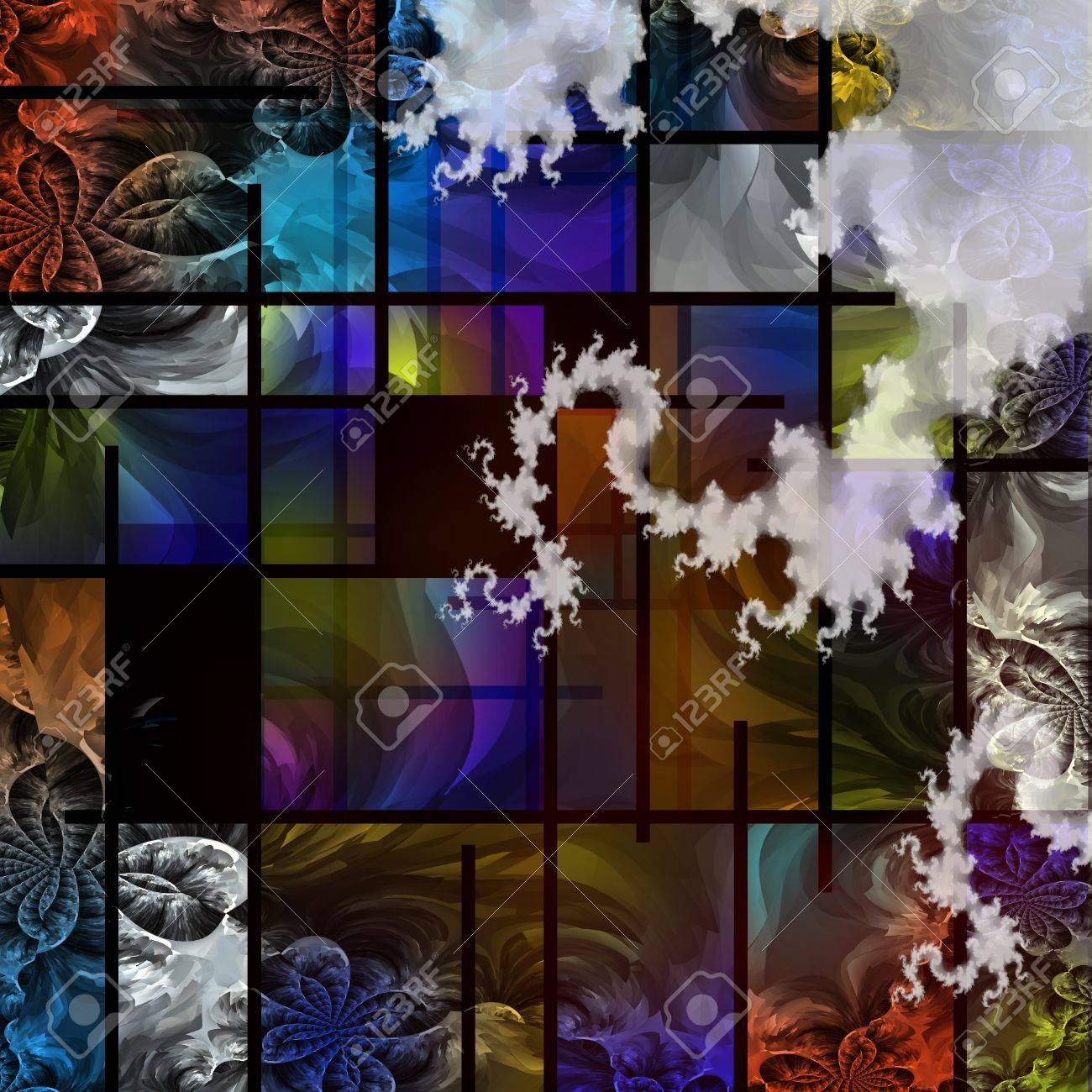 Abstract based in part on modern art Stock Photo - 10555775
