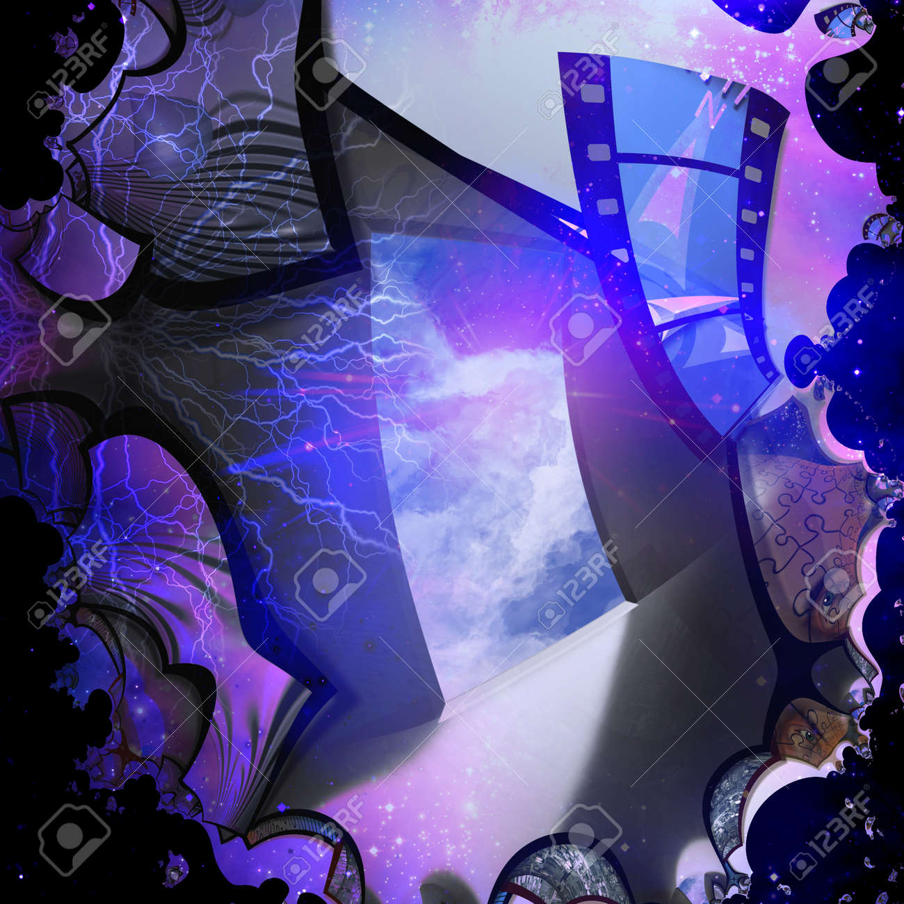 Artist abstract with doorway Stock Photo - 10555772