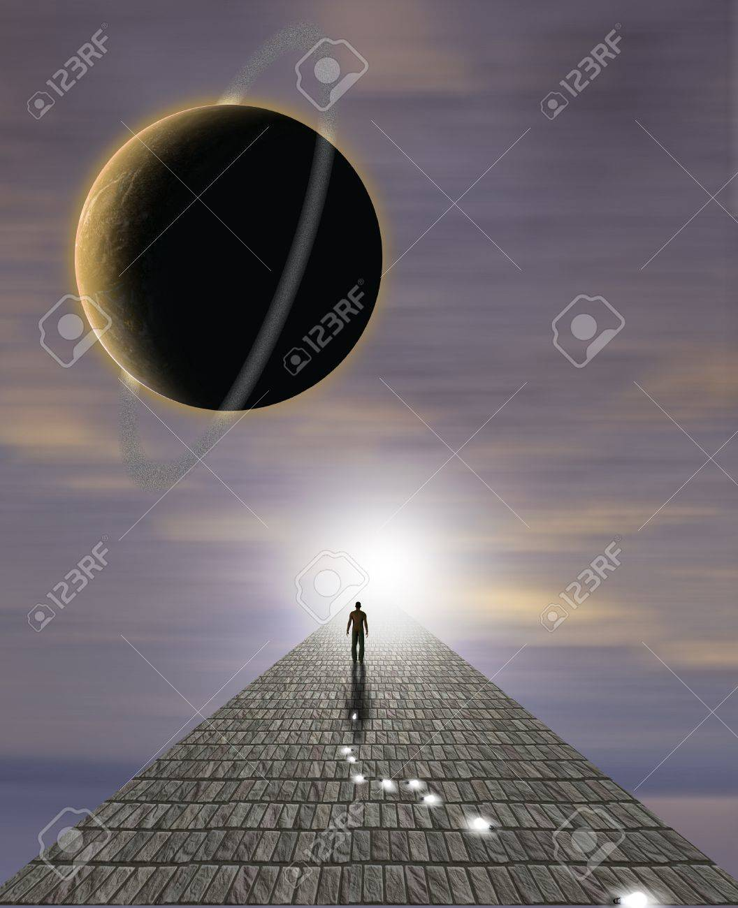 Mans Journey of the Soul Stock Photo - 10777247
