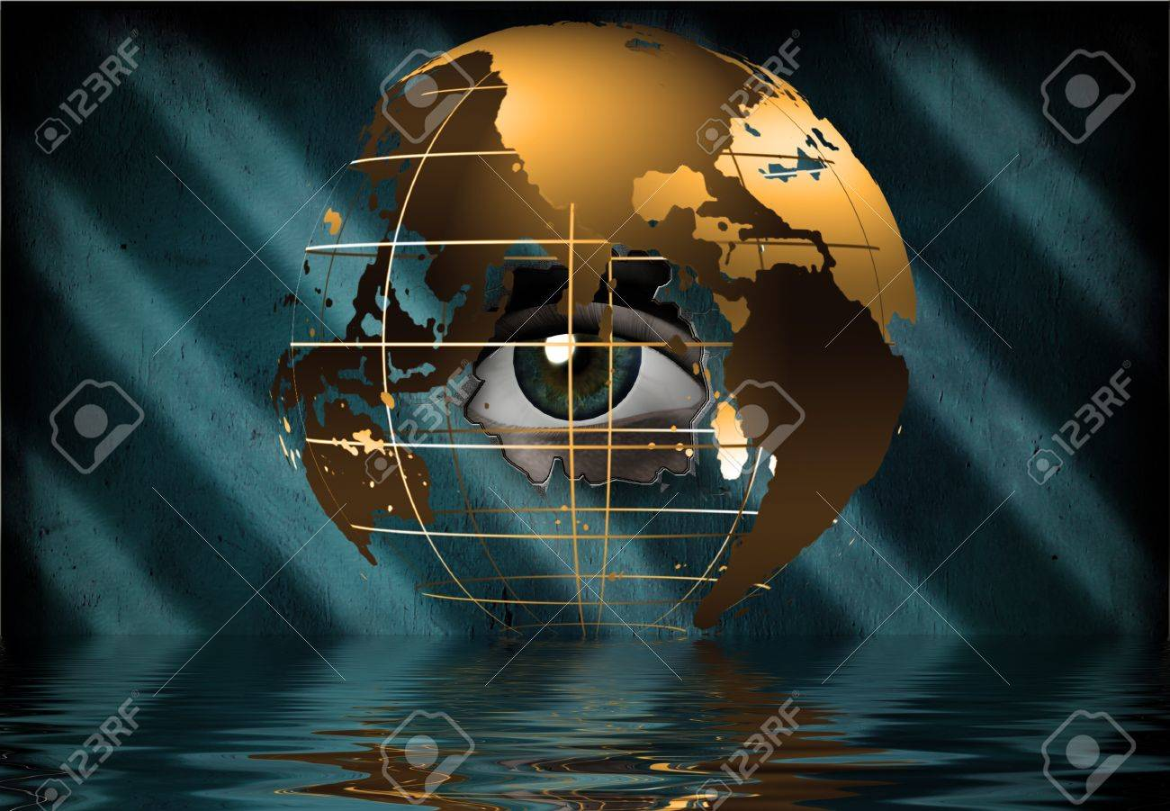 Eye peers through earth - 12123523
