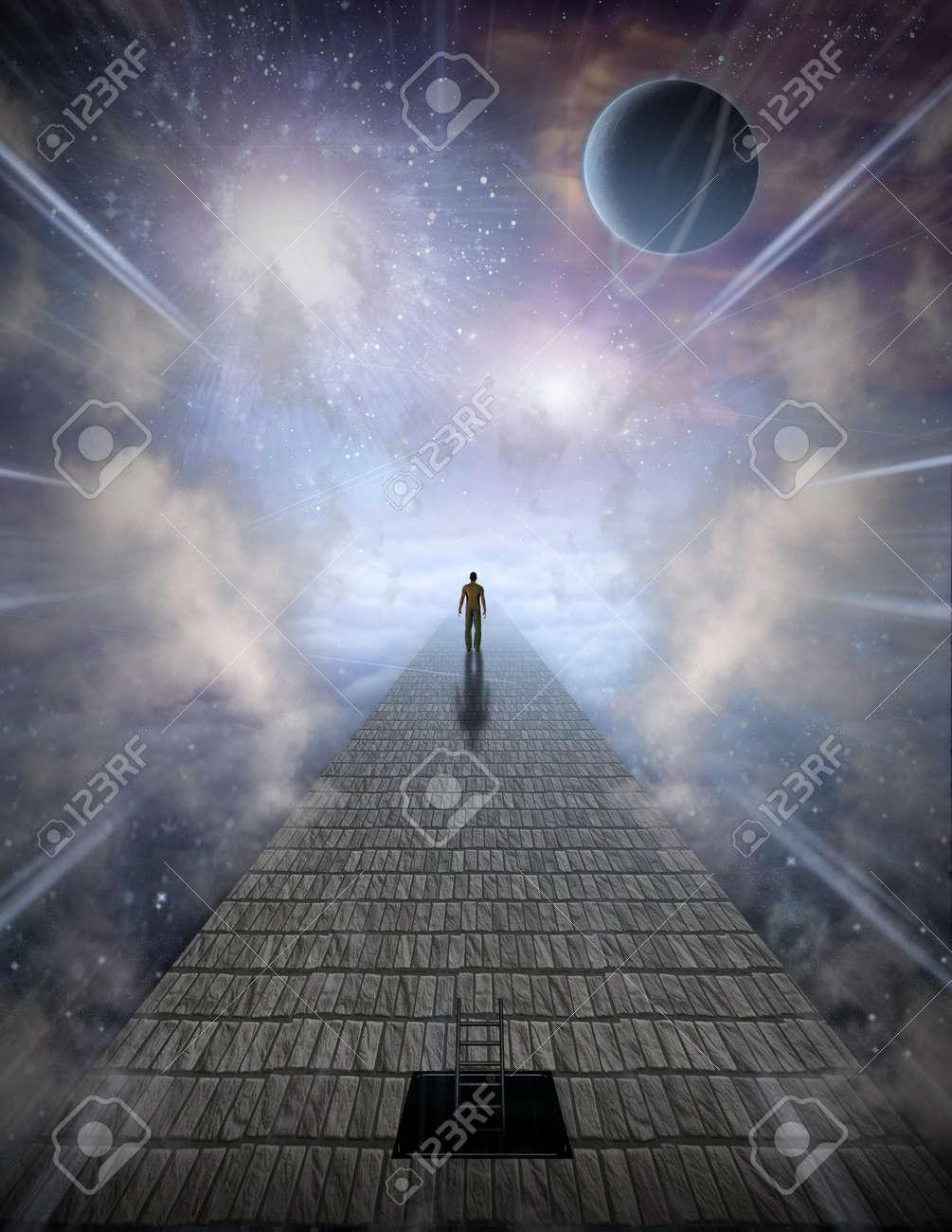 Art galleries of spiritual surrealism and modern mystical exhibition