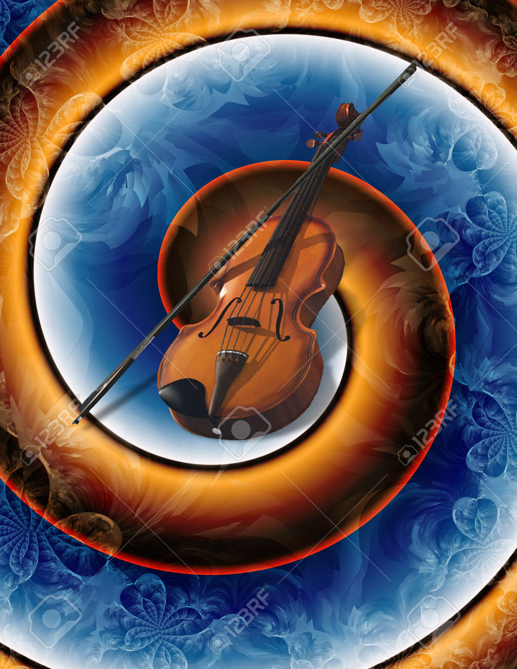 Modern Art violin abstract Stock Photo - 12427598
