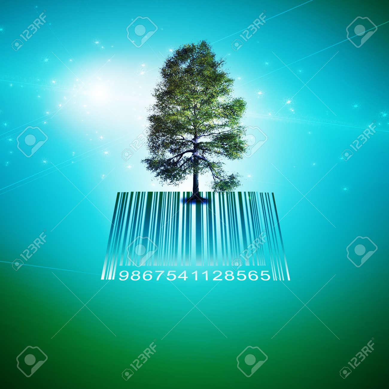 Barcode Tree Stock Photo - 12784487