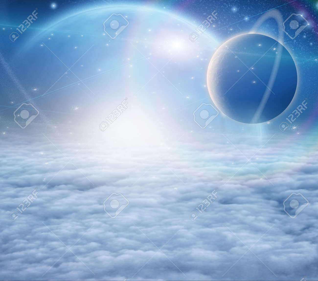 Atmosphere and planets Stock Photo - 12784467