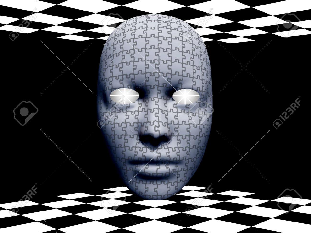 Puzzle Mask Stock Photo - 13273519