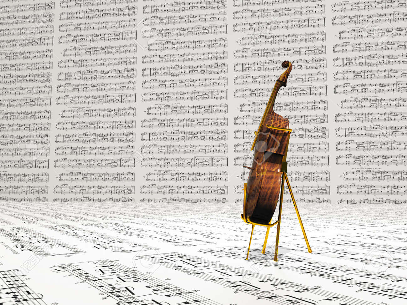Cello and music notation background Stock Photo - 14841317