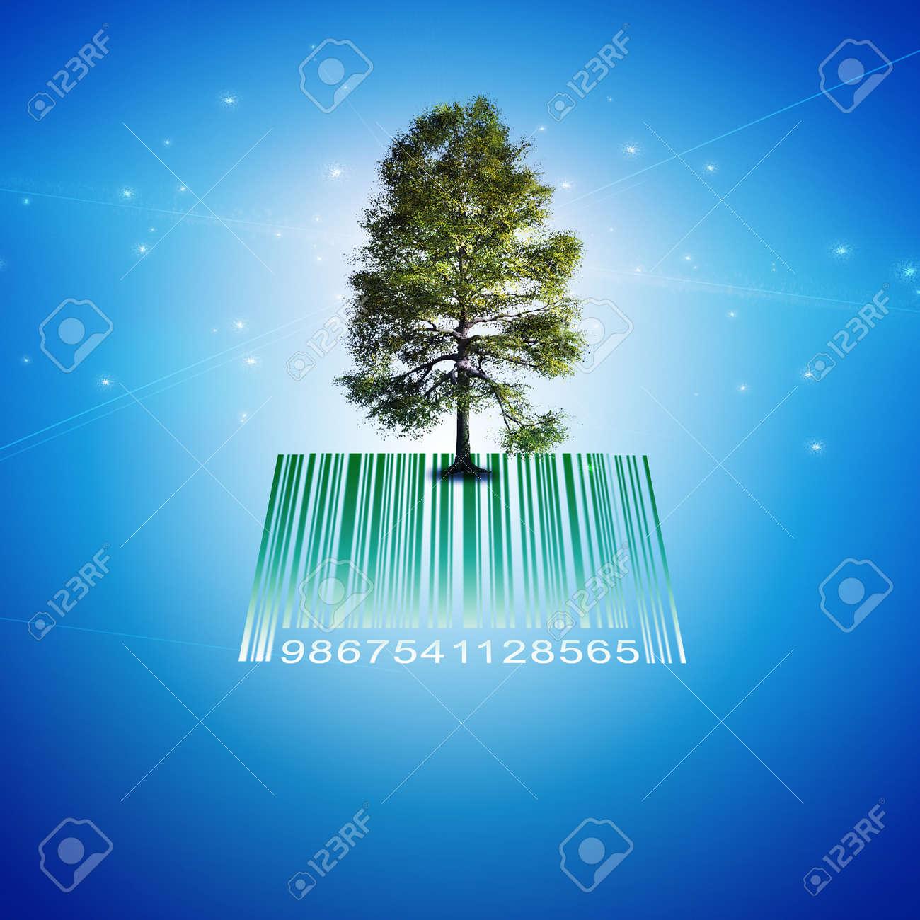 Barcode Tree Stock Photo - 15922566