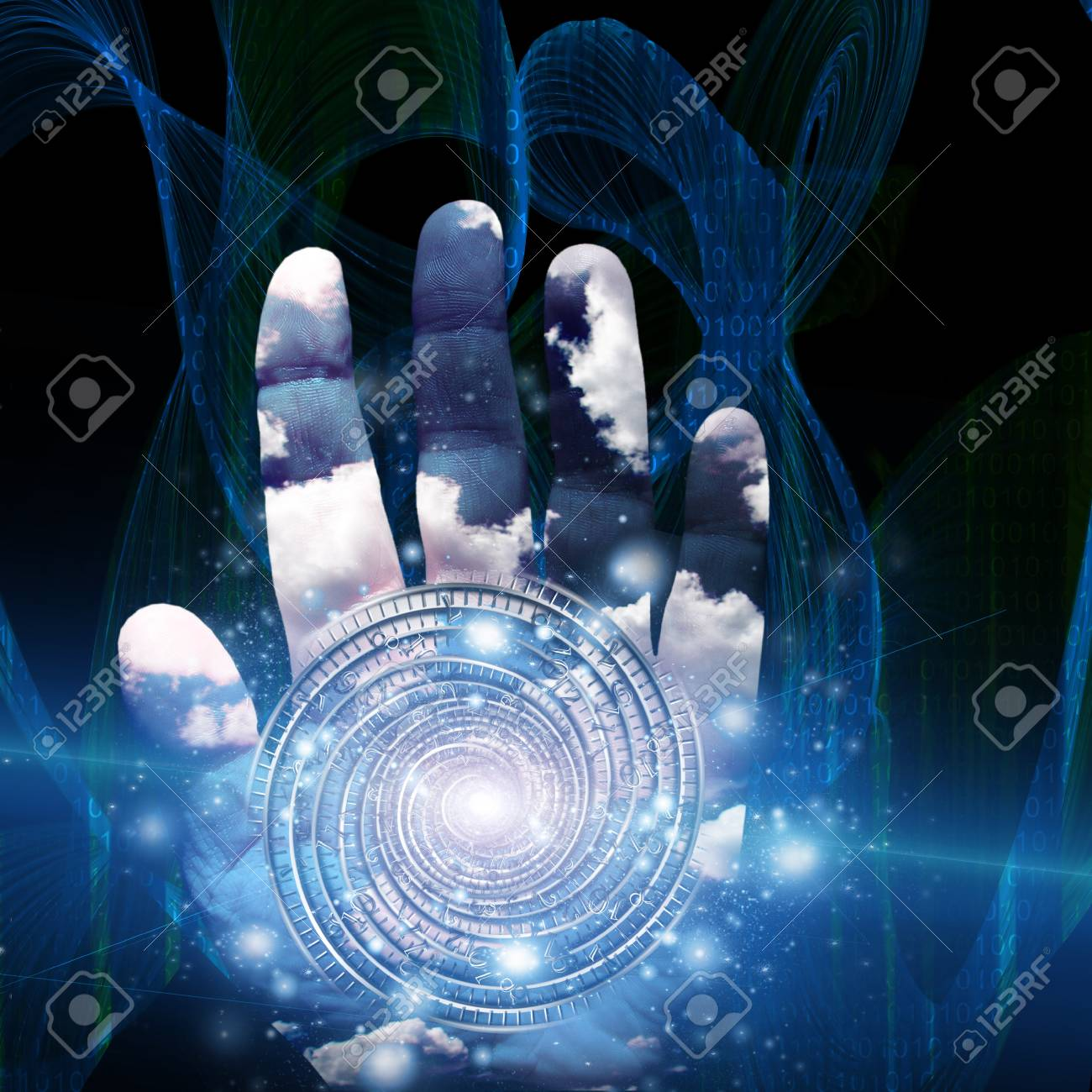 Hand with swirling form Stock Photo - 17024514
