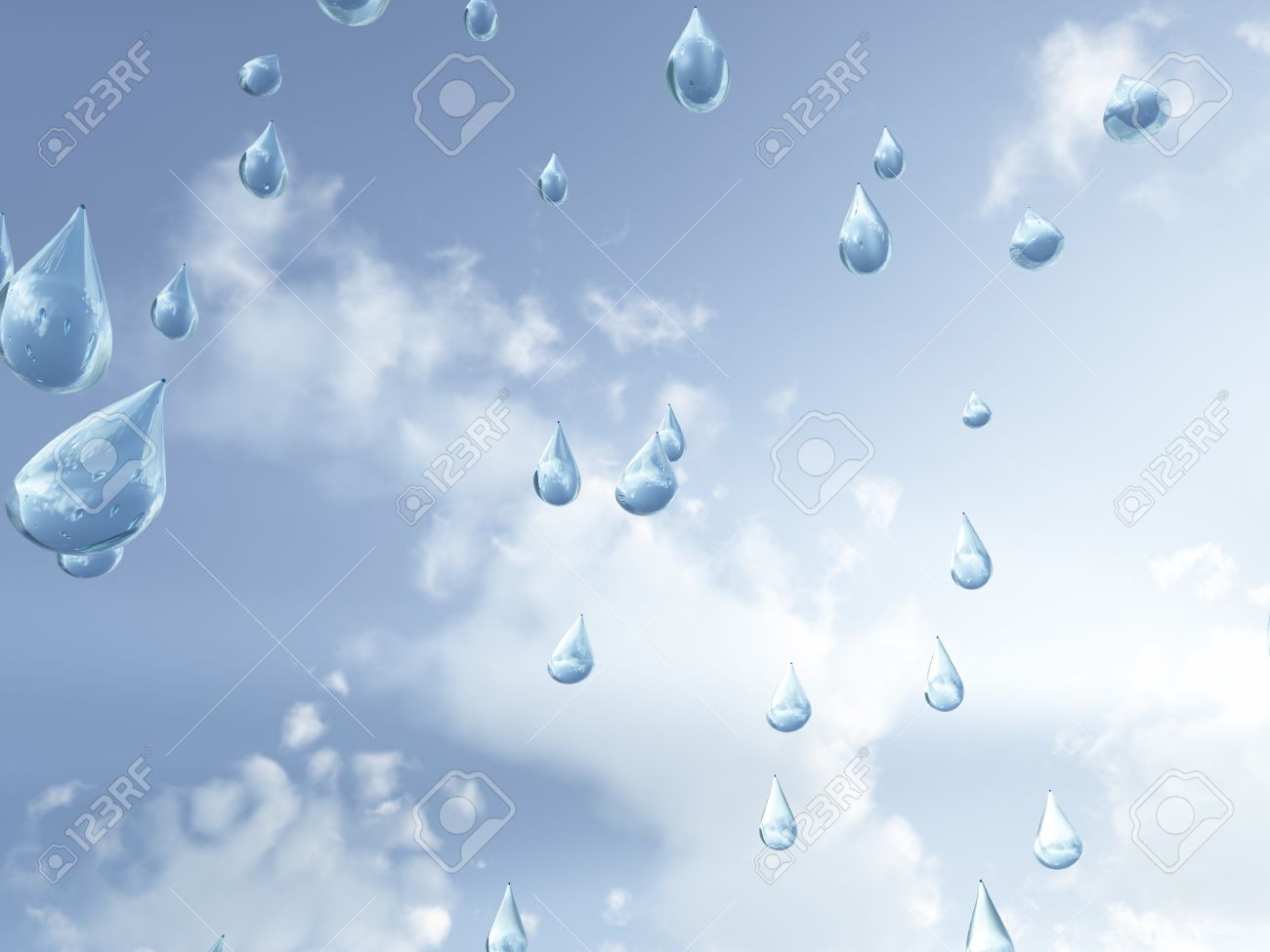 Raindrops Falling From The Sky