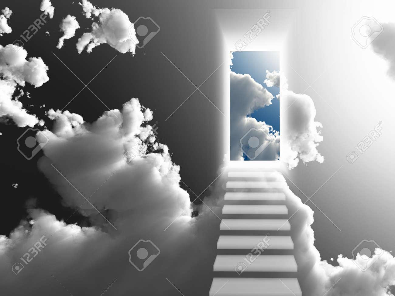 Doorway Sky Stock Photo - 21047117