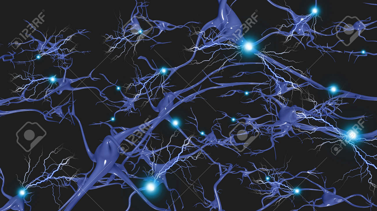 Brain cells with electrical firing - 25262979