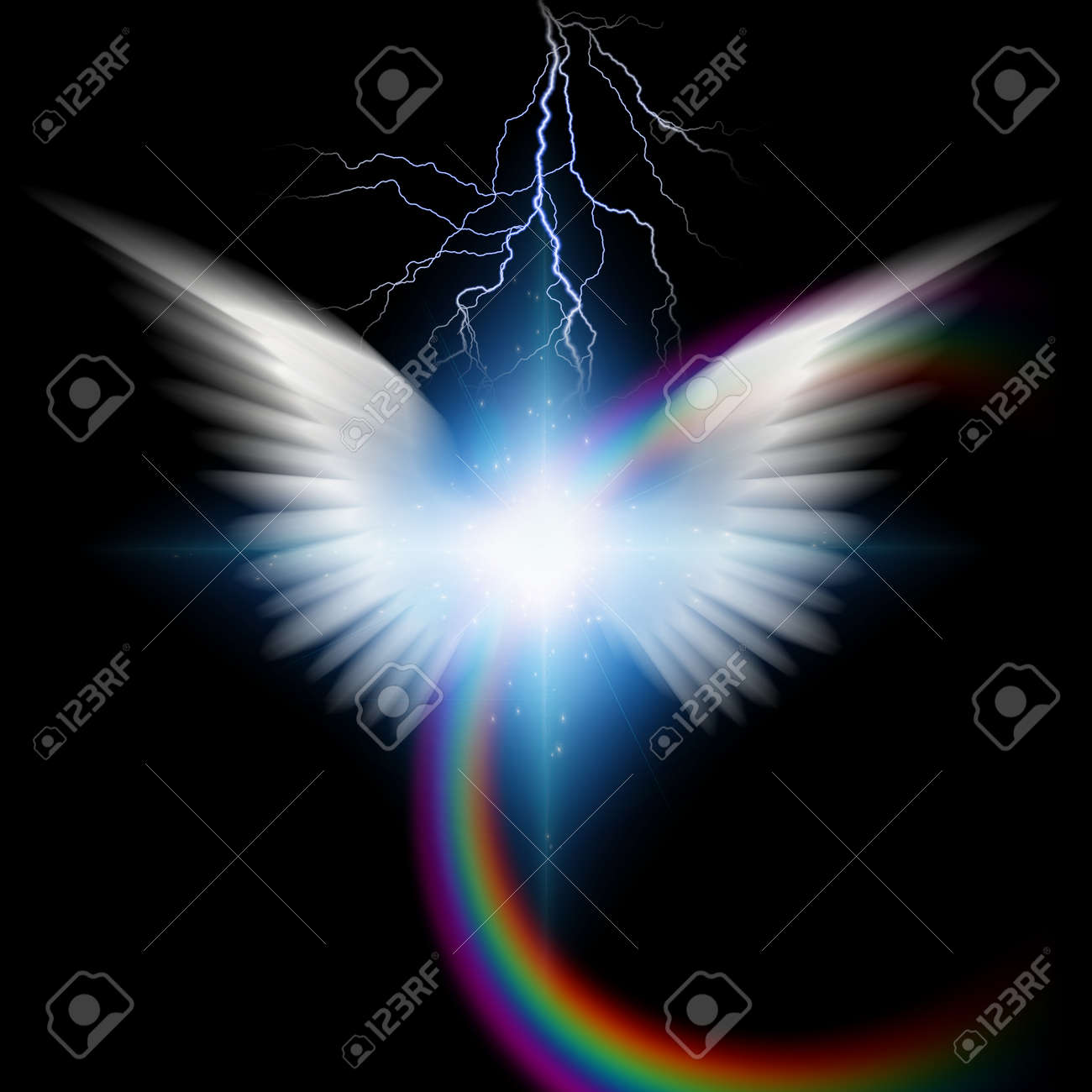 Angelic wings with lighting - 50446515