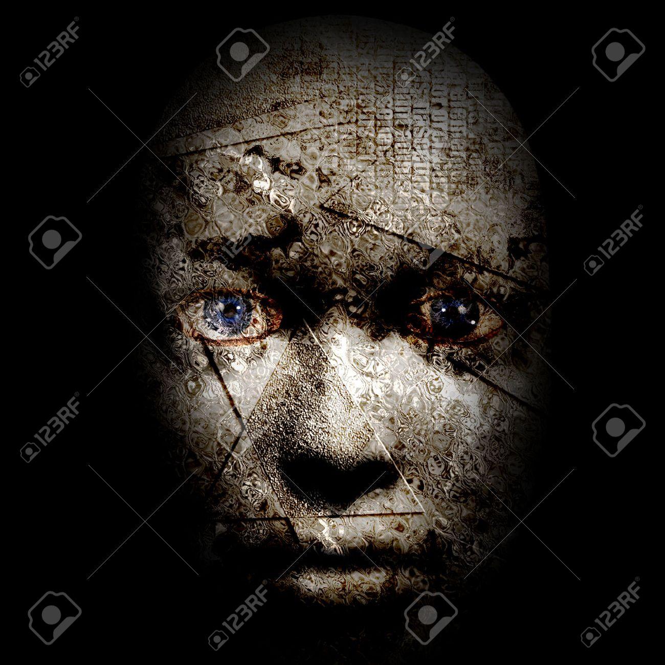 怖い顔画像