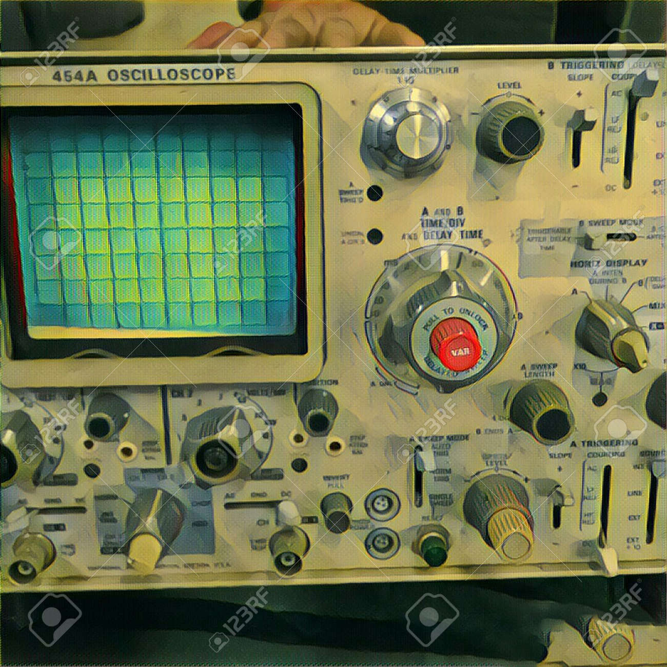Modern Digital Art Oscilloscope Stock Photo Picture And Royalty Control Pannel 89713377