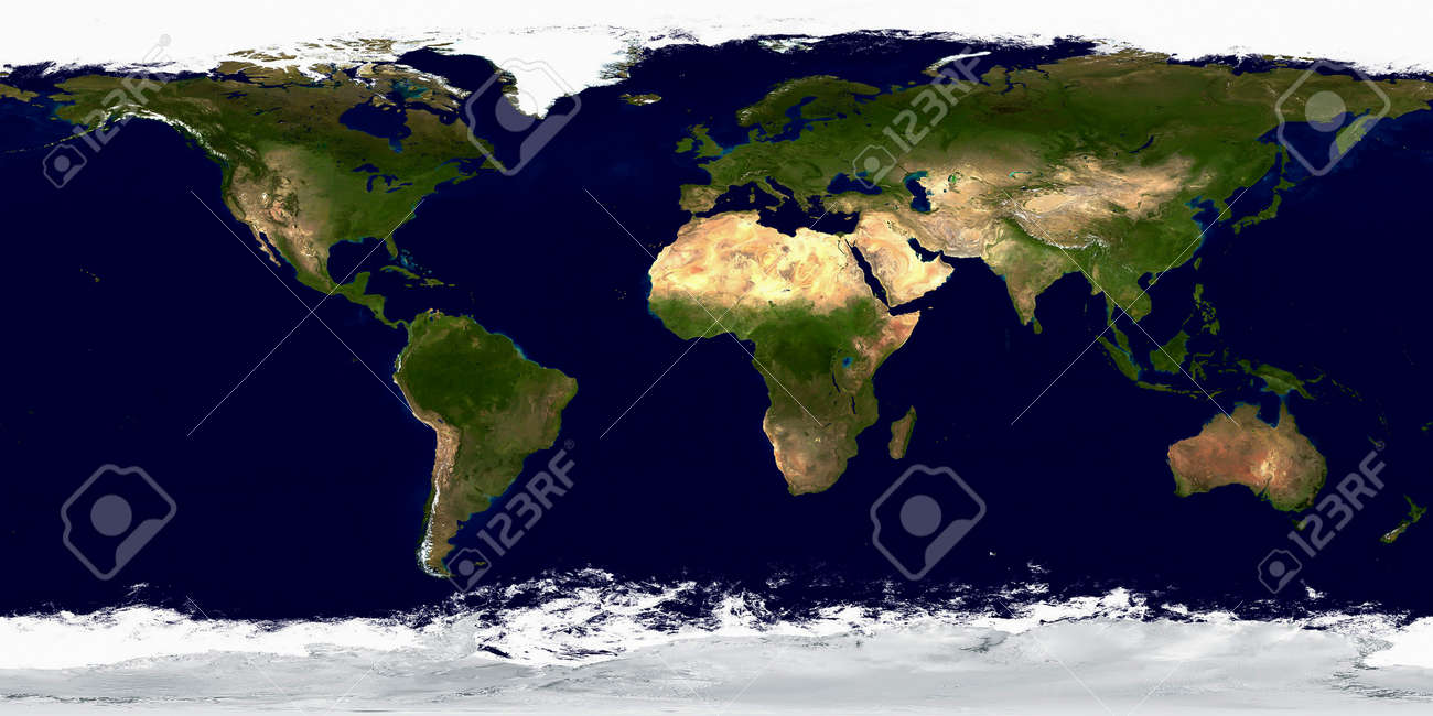 Geographic Map Of Earth.Geographic Map Of Planet Earth Stock Photo Picture And Royalty