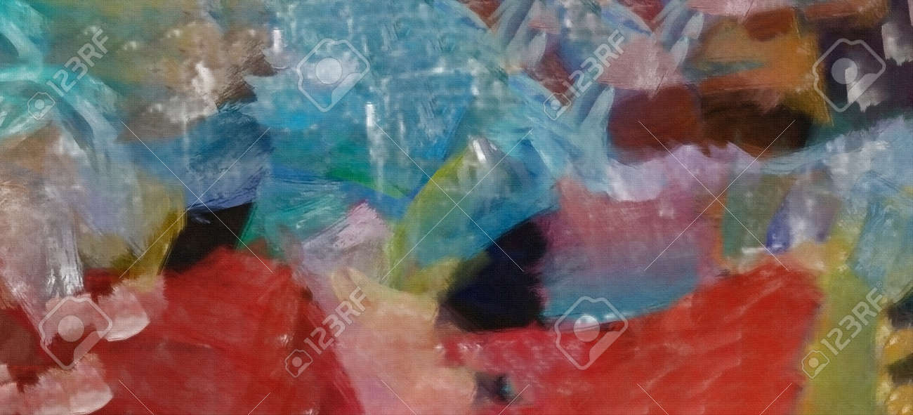 Abstract Painting Pastel Mediterranean Colors