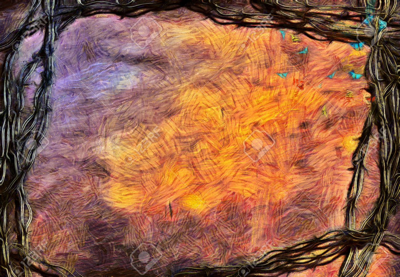 Abstract Art Muted Colours
