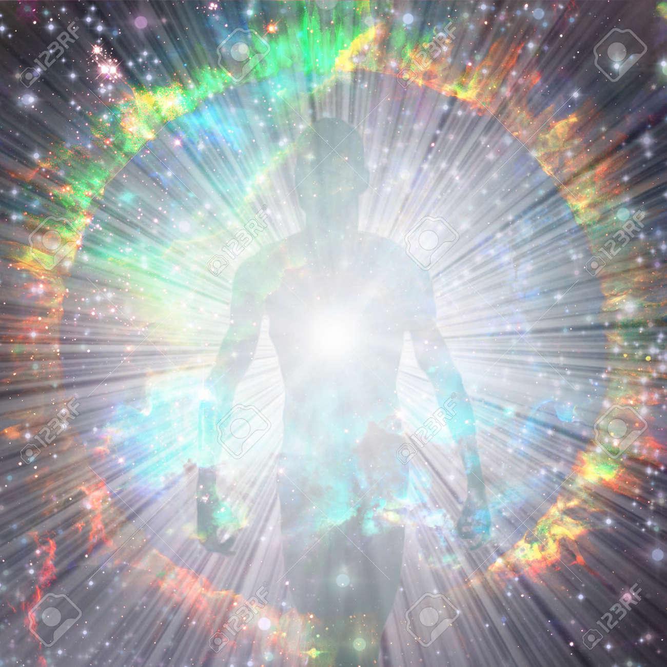 Shining aura and rays of light - 130980716