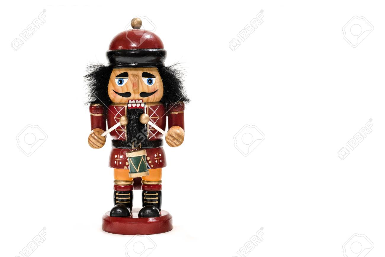 Christmas Drummer Boy.Merry Christmas Traditional Colorful Vintage Wooden Nutcracker