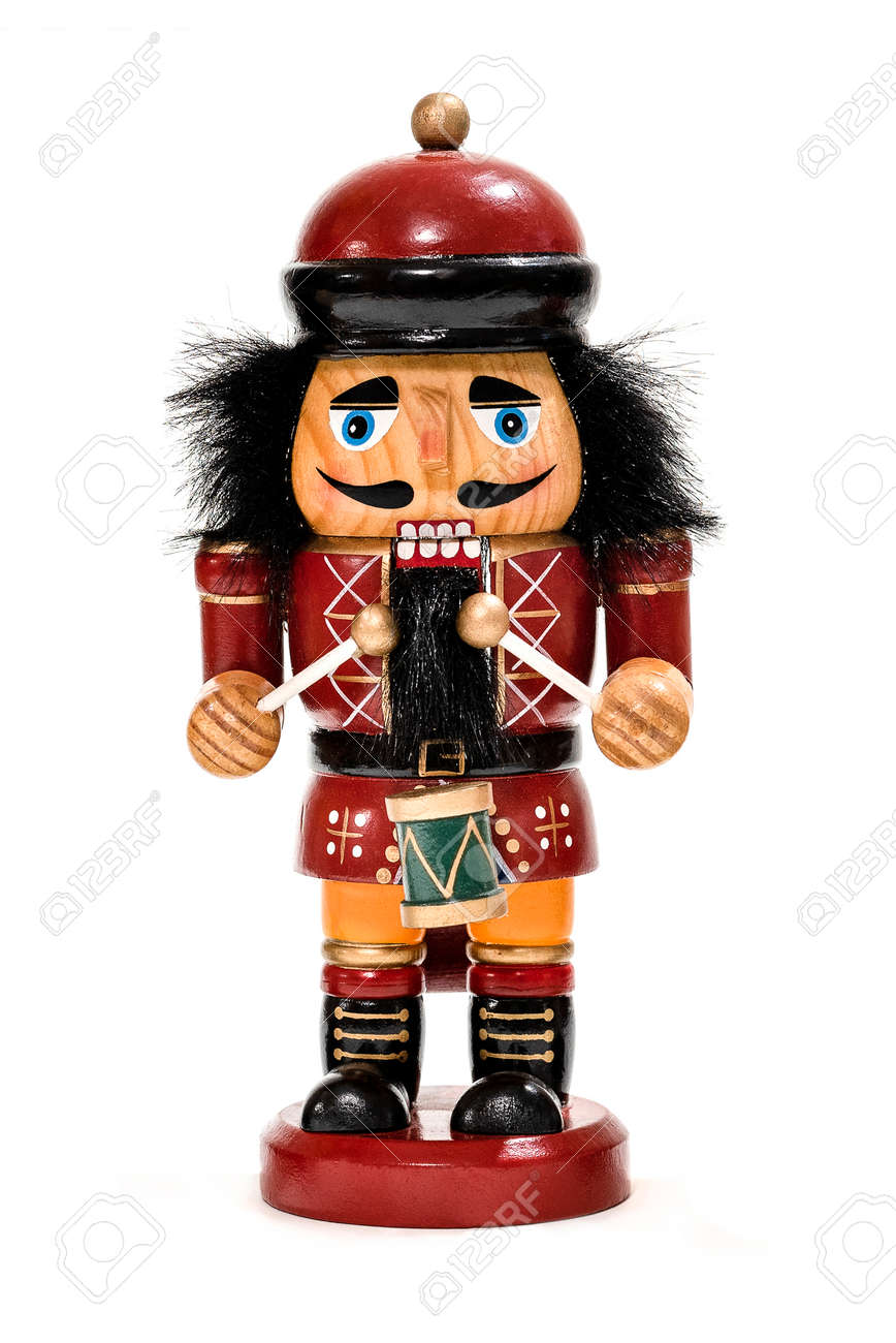 Christmas Drummer.Merry Christmas Traditional Colorful Vintage Wooden Nutcracker