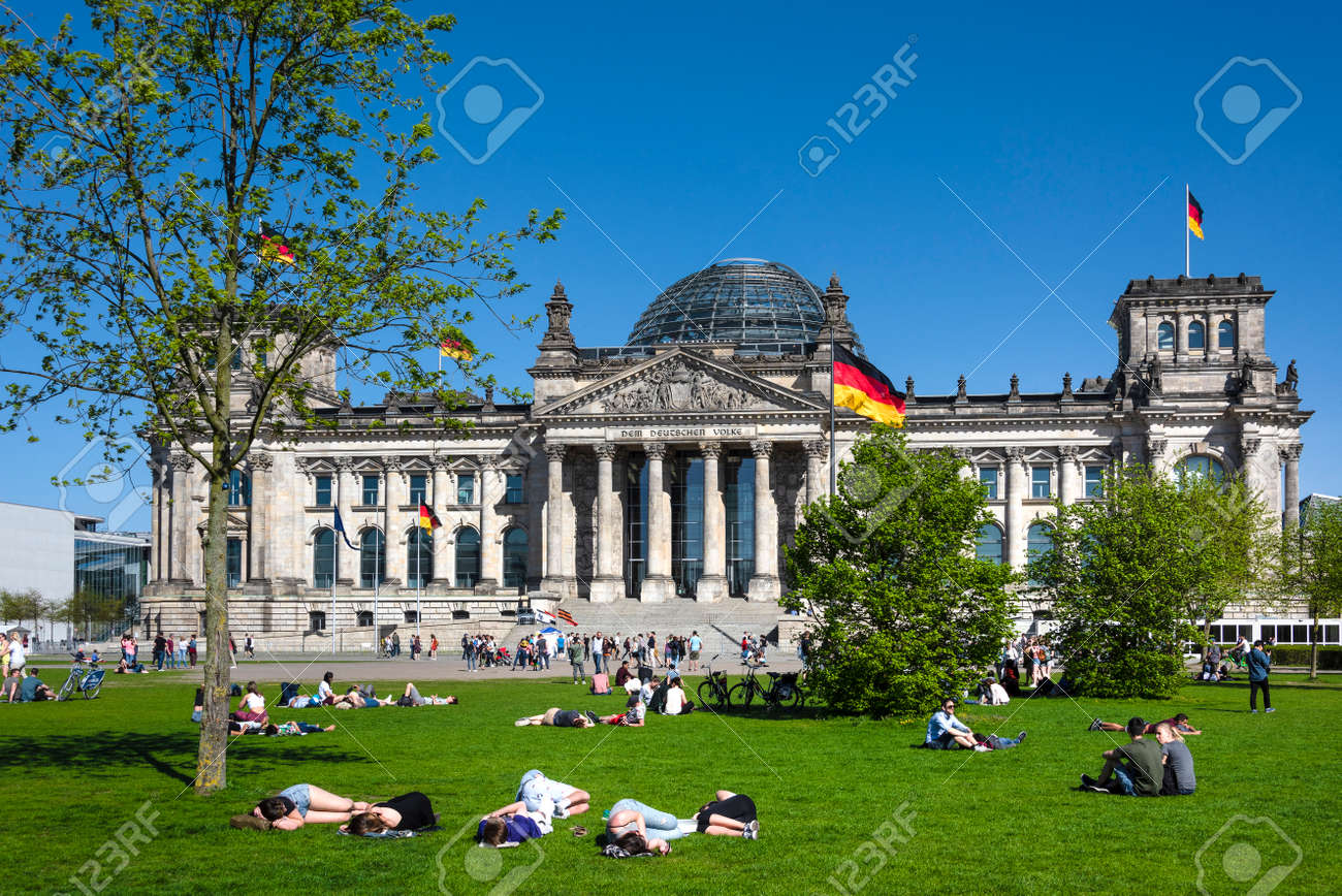 Germany, Berlin: People residents tourists in public park in