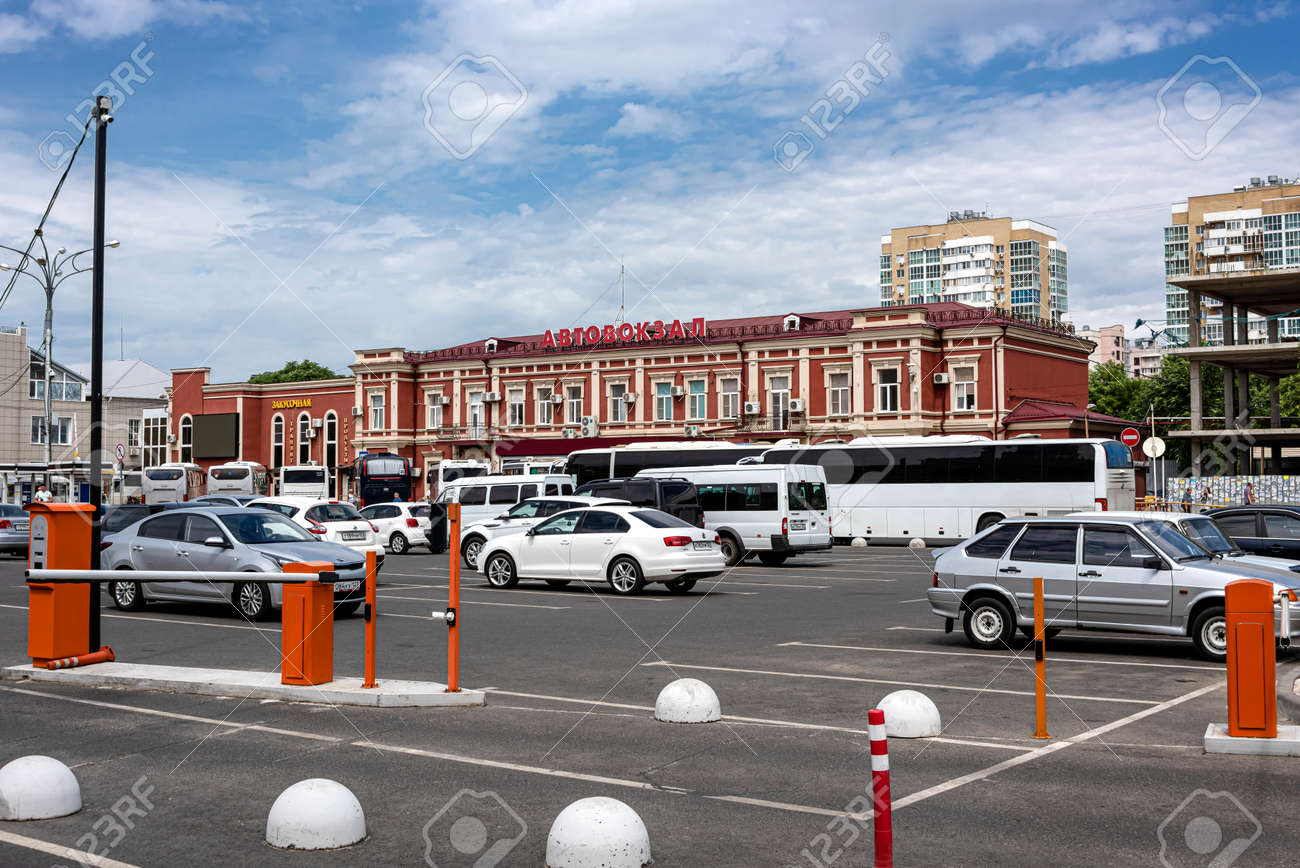 Russia Krasnodar Central Bus Station In The City Center Of Stock Photo Picture And Royalty Free Image Image 140732070