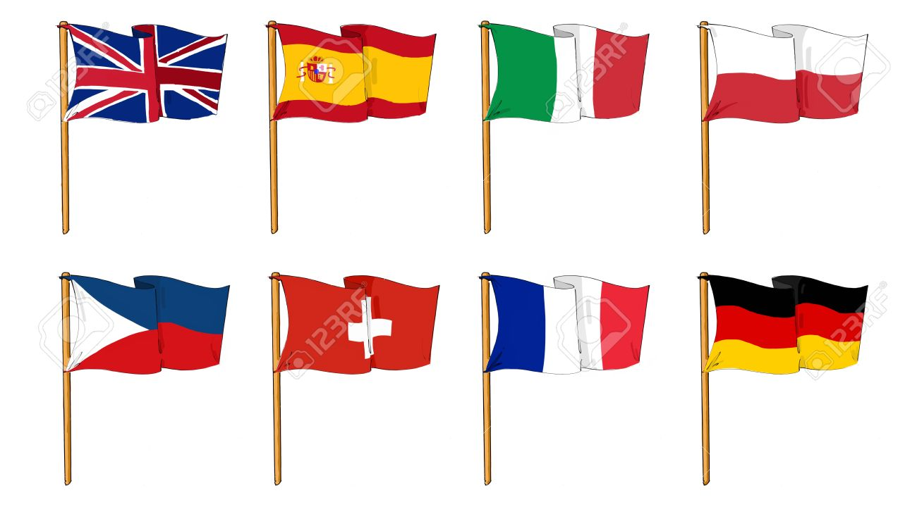 cartoon like dawings of some of the most popular flags in europe rh 123rf com cartoon flashcards cartoon flash images