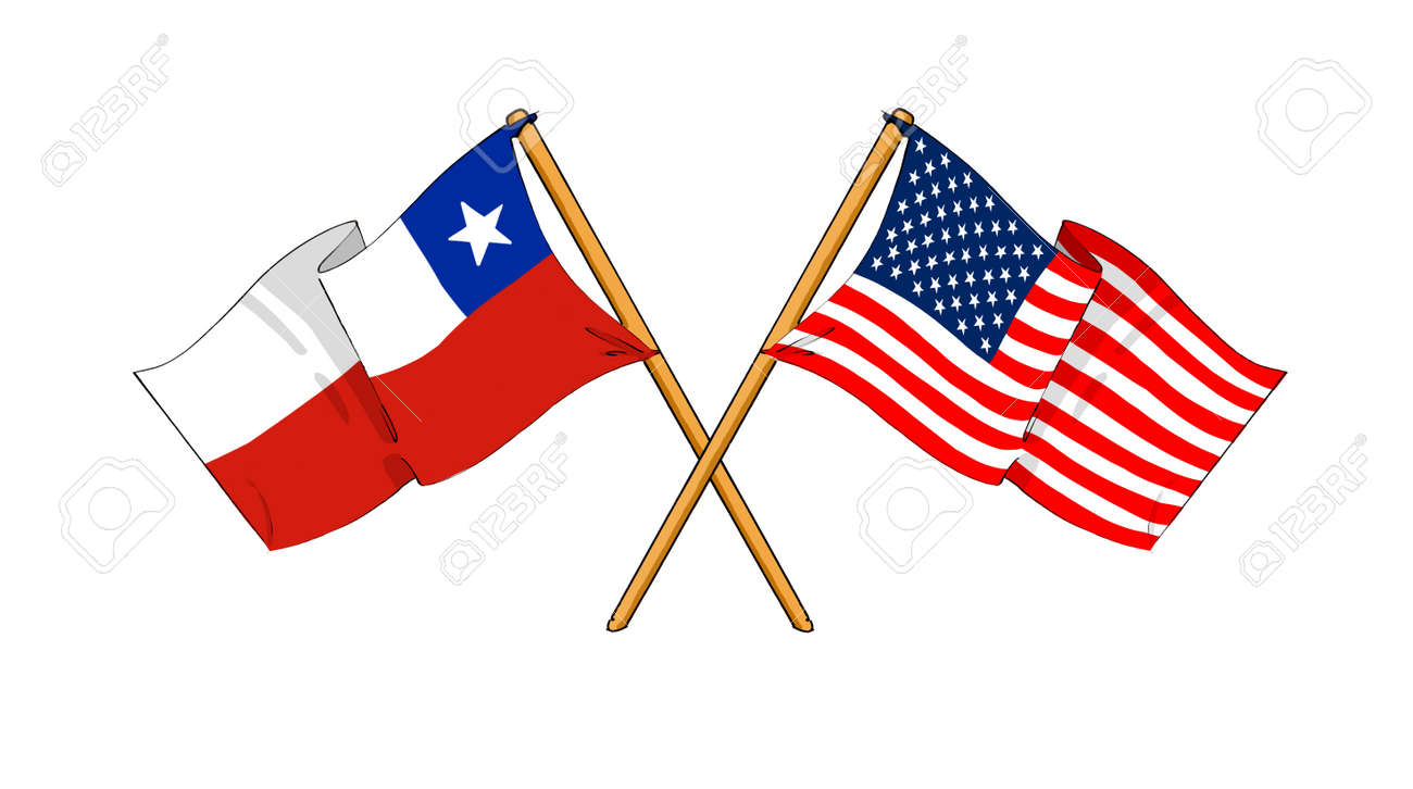 701 santiago chile stock illustrations cliparts and royalty free cartoon like drawings of flags showing friendship between chile and usa stock photo biocorpaavc Images