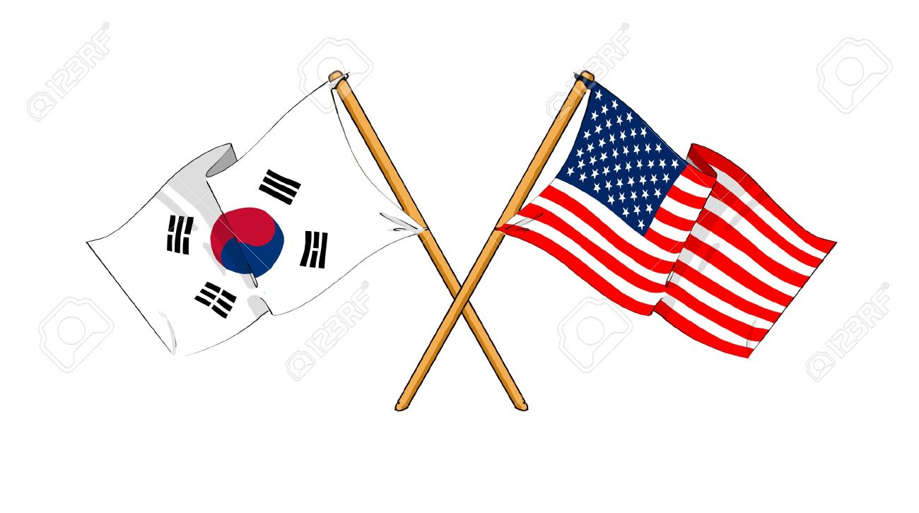 Image result for S Korea USA CARTOON