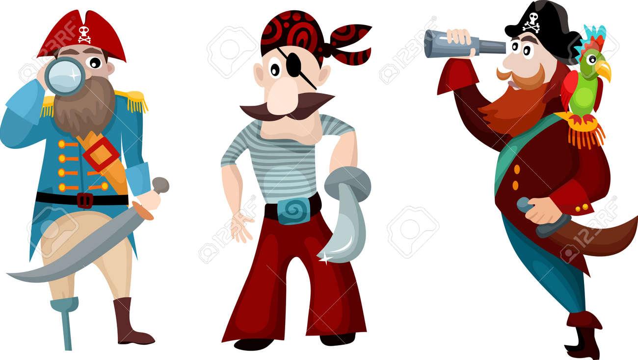 pirate set Stock Vector - 11109919