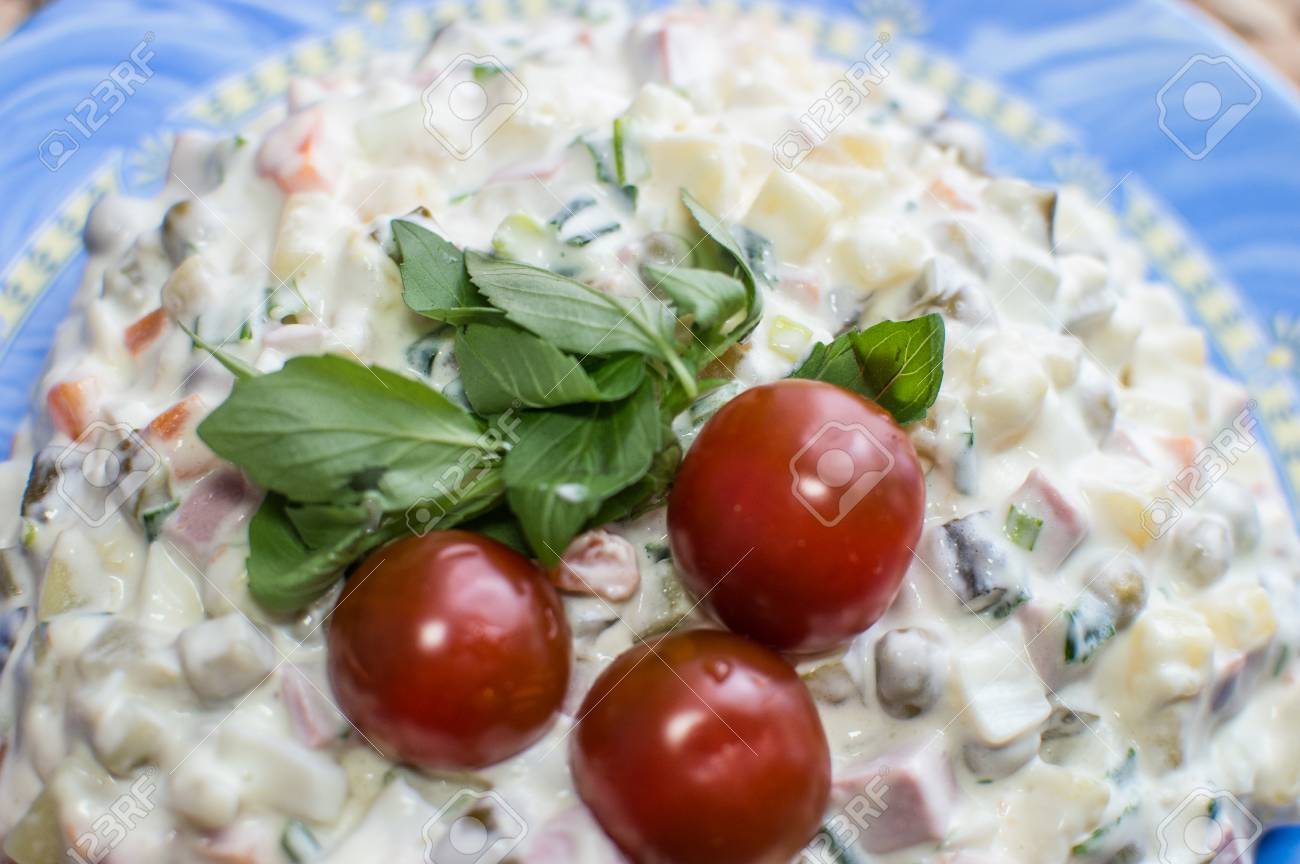 Taysty Russian salad with three tomatoes - 57128159