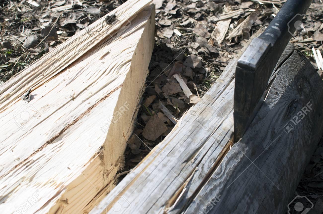 the axe thrust in log - 57128183