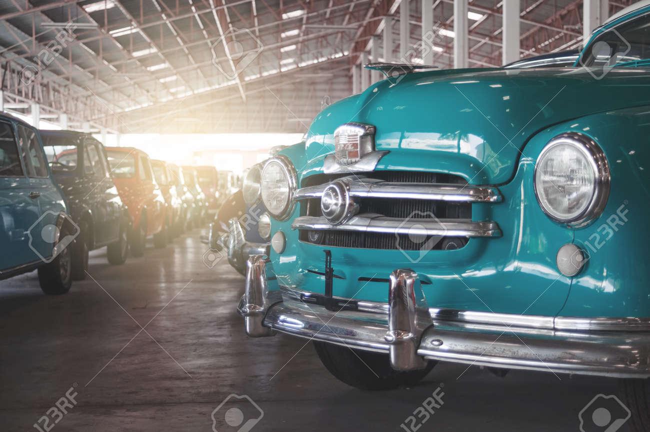 BANGKOK, THAILAND - MARCH 1, 2017: Vintage Retro Cars Parking ...