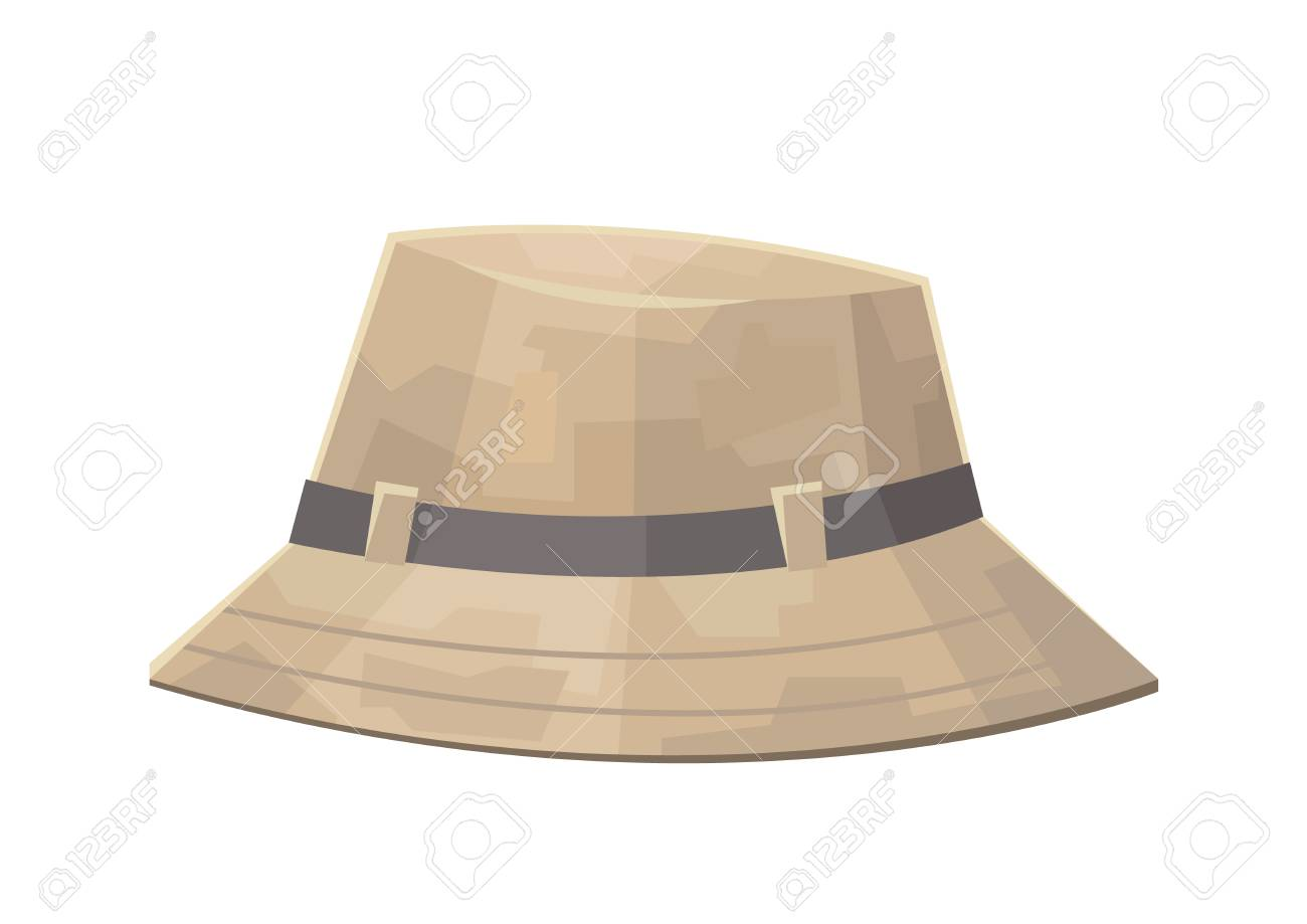 d68766f0b Cute camping safari hat isolated on white background vector
