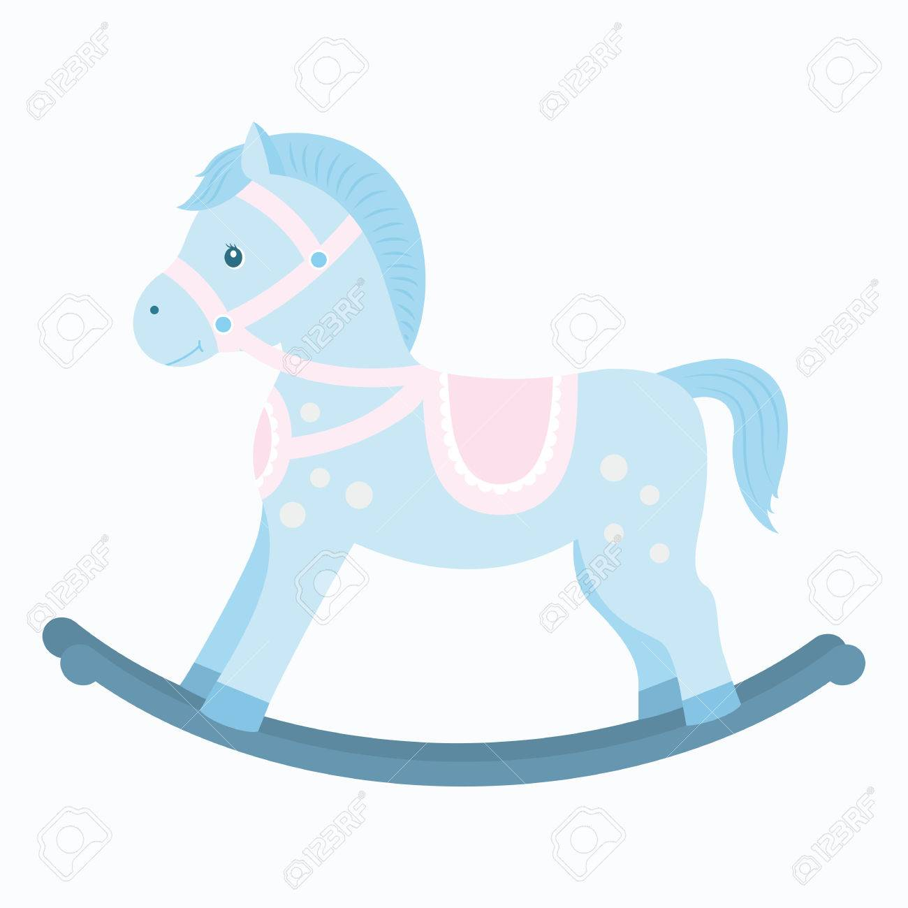 Rocking Horse.Baby Toy. Design Element For Baby Shower Card ...