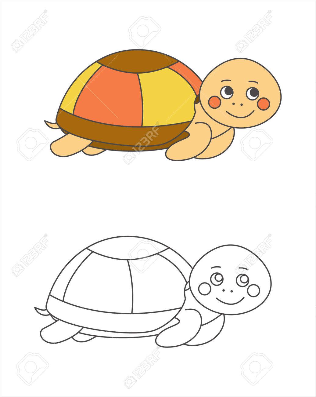 Schildkröte Zum Malbuch Lizenzfrei Nutzbare Vektorgrafiken, Clip ...