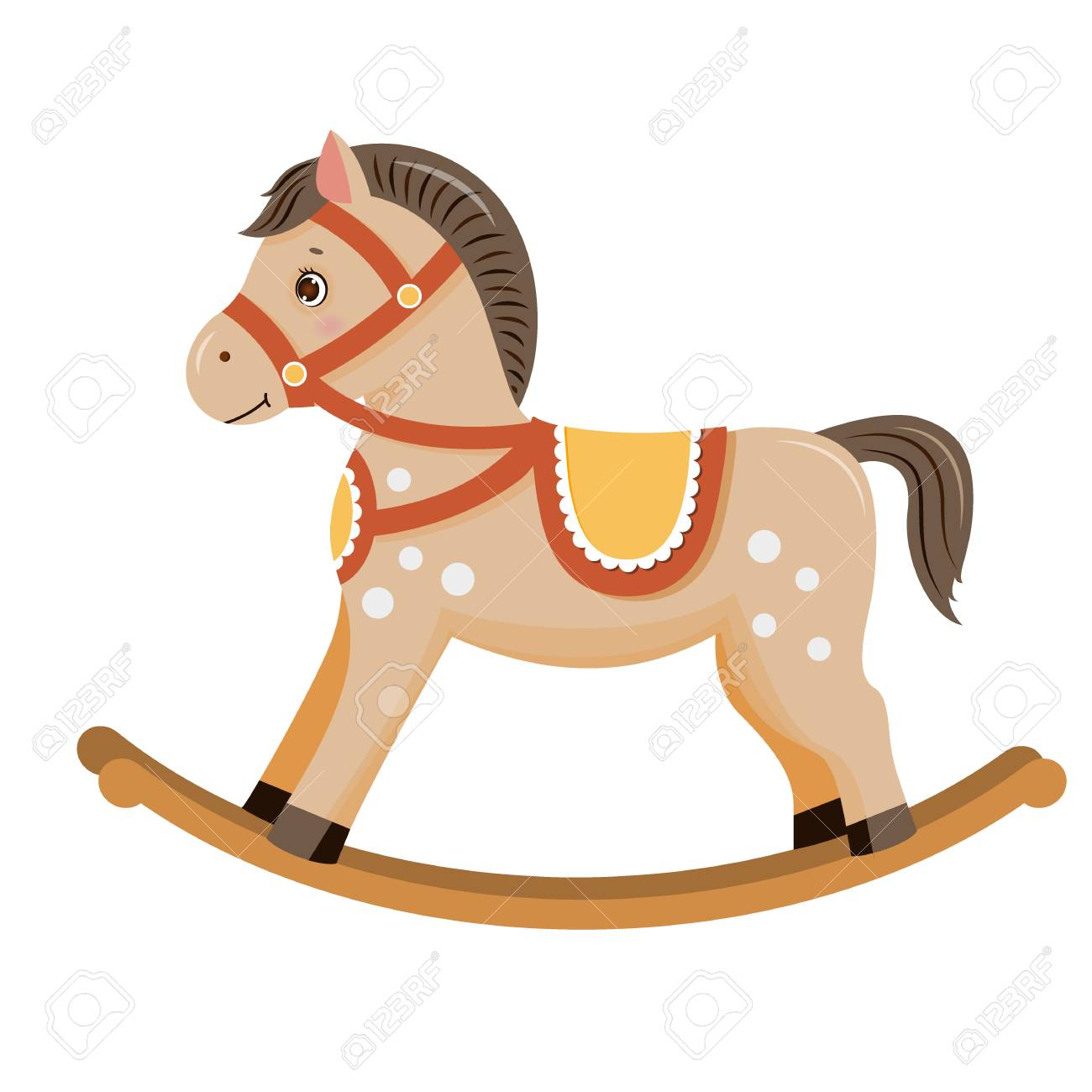 Rocking Horse Baby Toy Royalty Free Cliparts Vectors And Stock Illustration Image 97737469
