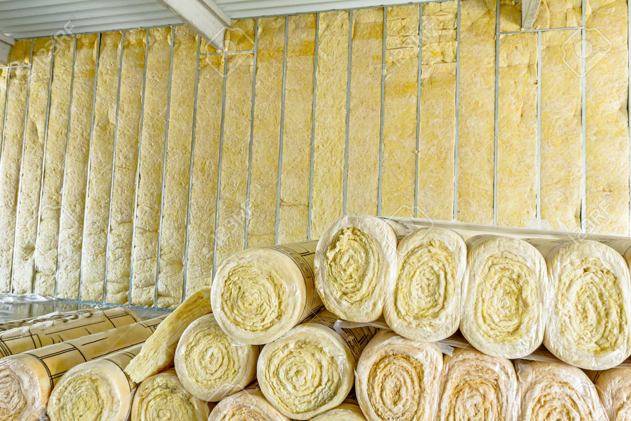 Package of thermal insulation material, rock wool is wrapped