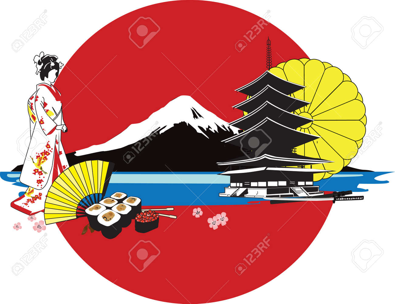 background with Japanese characters Stock Vector - 13477510