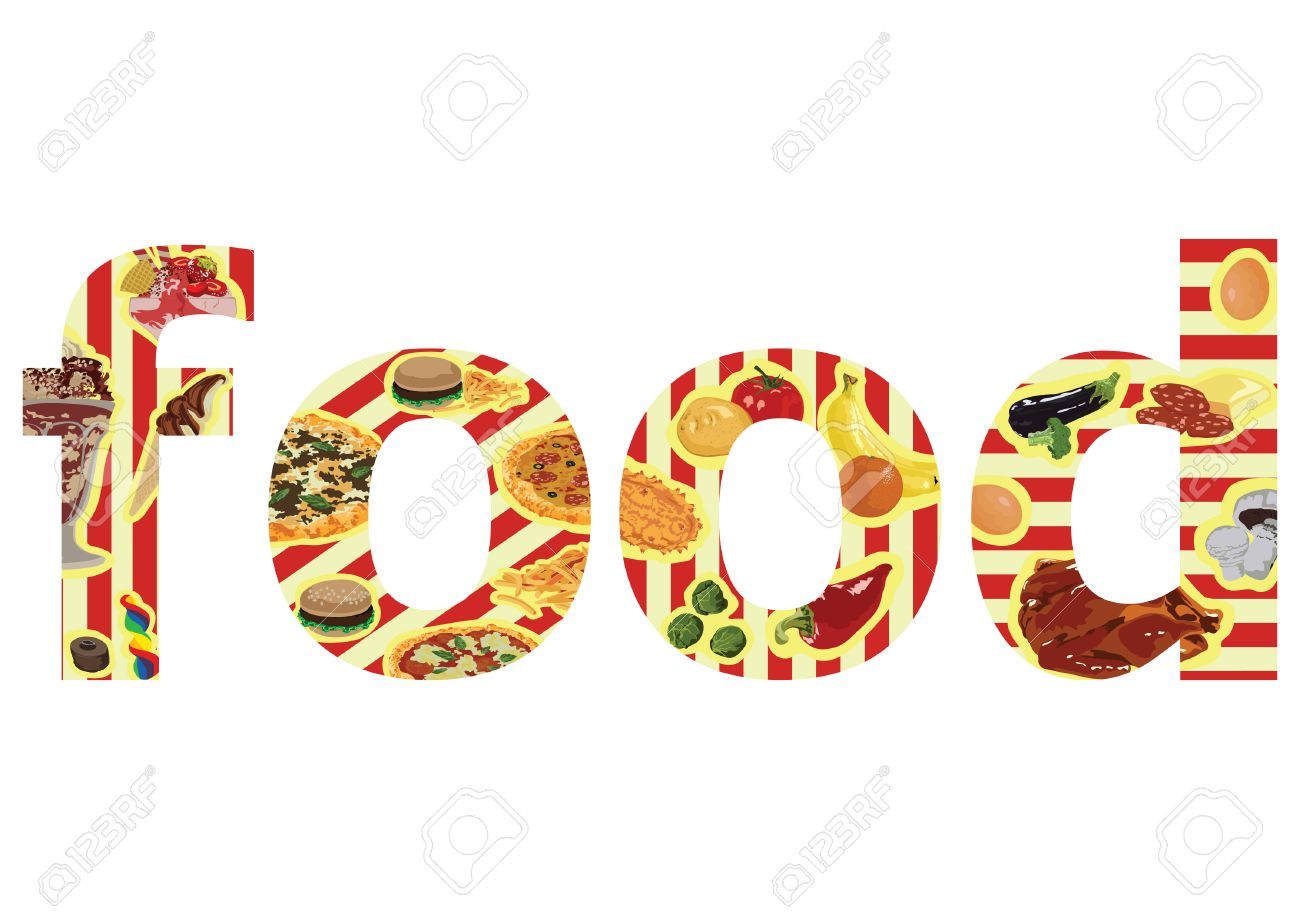 food letters stock photos images royalty food letters images food letters letters food on a white background illustration