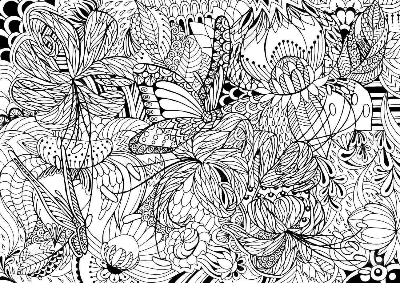 Único Colorear Flores Flores Duras Regalo - Dibujos Para Colorear En ...
