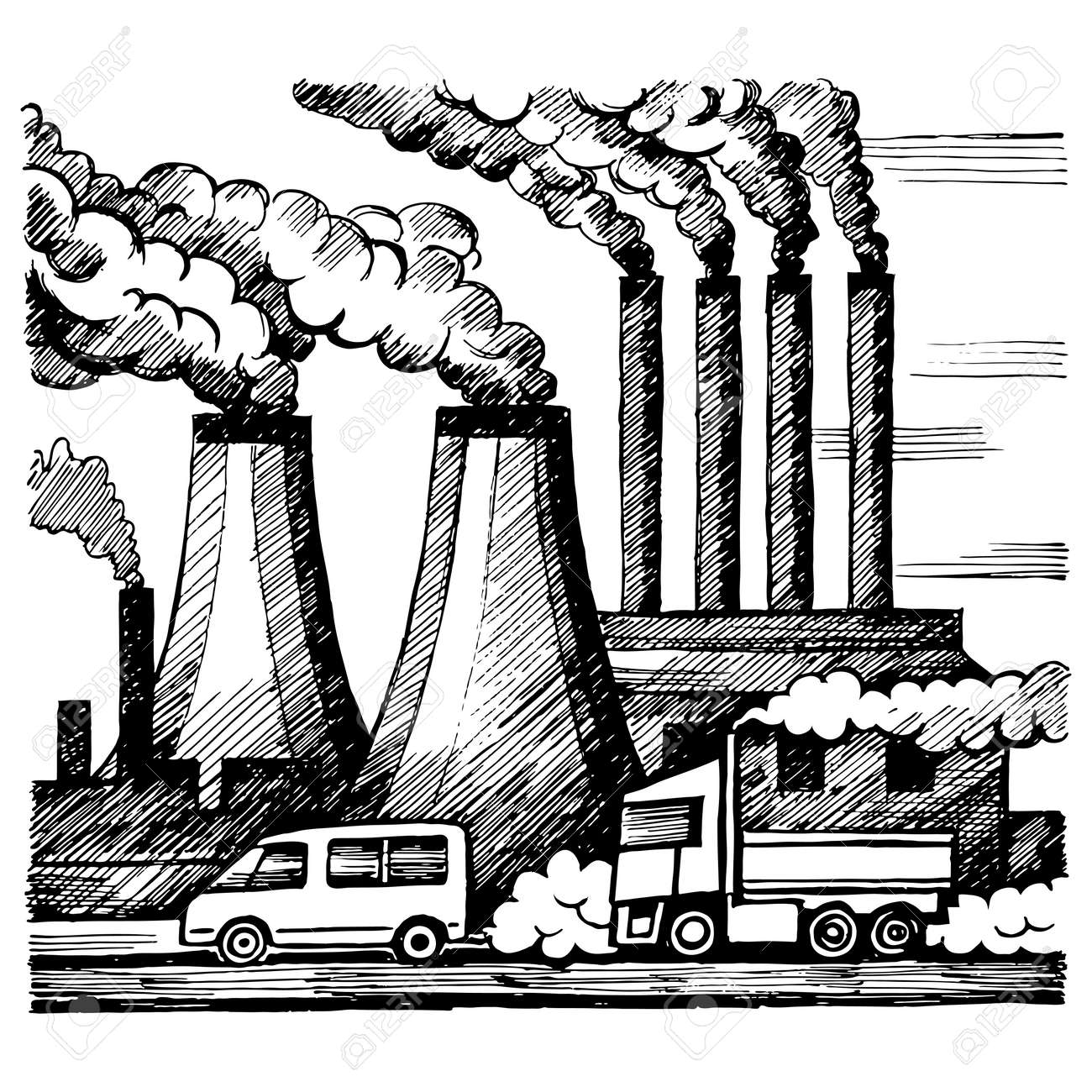 Ecology air and atmosphere pollution stock vector 73852425