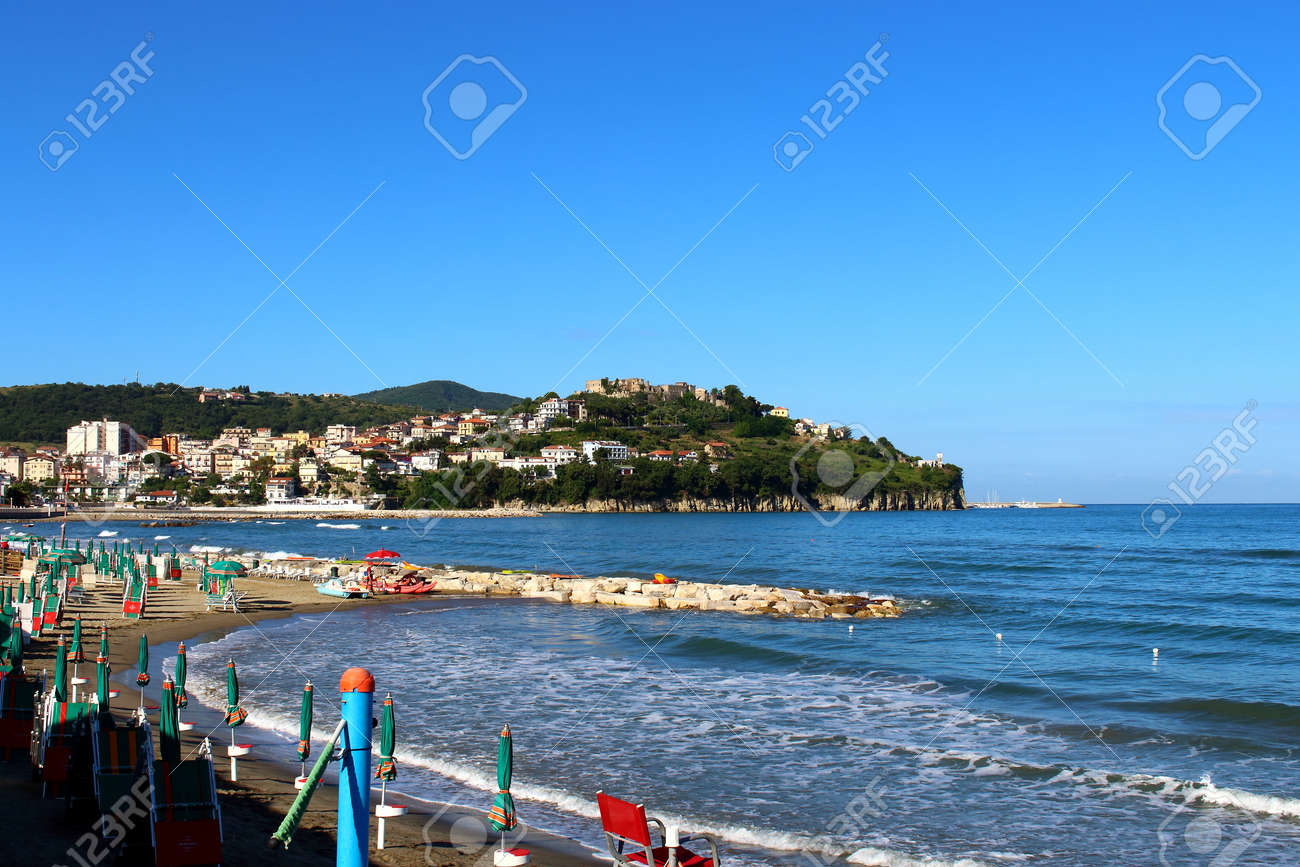 View Of Agropoli From The Lungomare San Marco Stock Photo, Picture ...