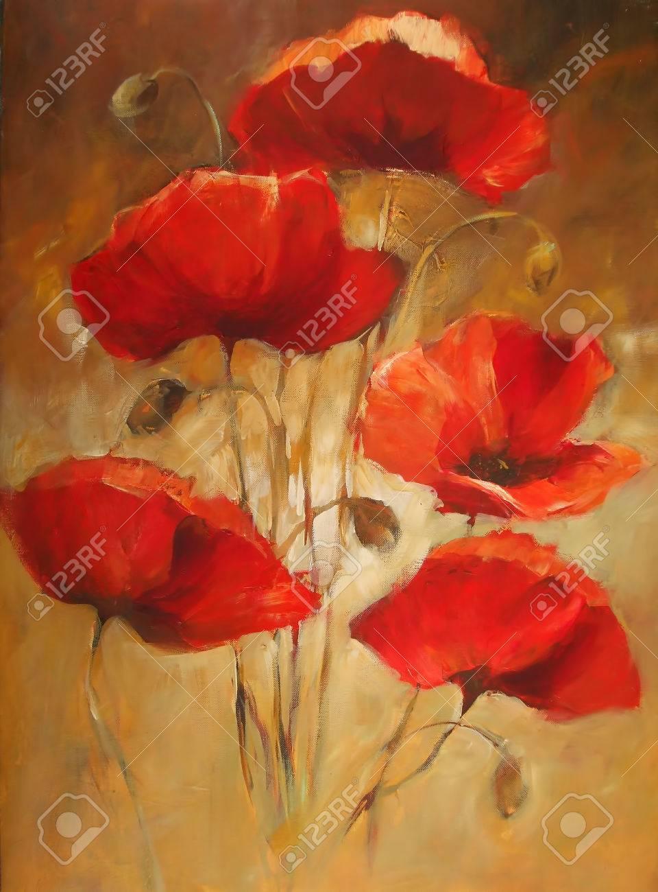 Poppy flowers handmade oil painting on canvas stock photo picture poppy flowers handmade oil painting on canvas stock photo 55509852 mightylinksfo